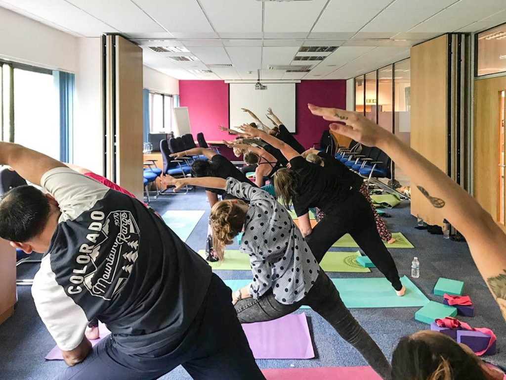 employees engage at sodexo wellbeing week
